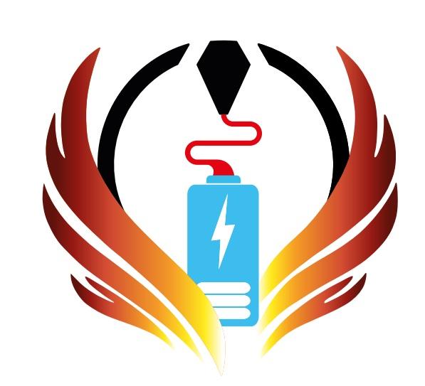 E-Cannonball In-Produkt denkt elektrisch Logo